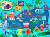 Day At the Zoo Canvas Wall Art