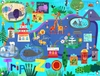 Day At The Zoo Canvas Wall Mural