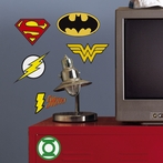 DC Superhero Logos Giant Wall Decals
