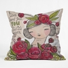 Dear Sweet Girl Throw Pillow