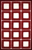 Deco Blocks Rug in Red and White