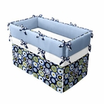 Deco Blue Crib Bedding Set