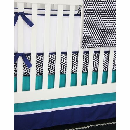 Deco Navy Crib Bedding Set