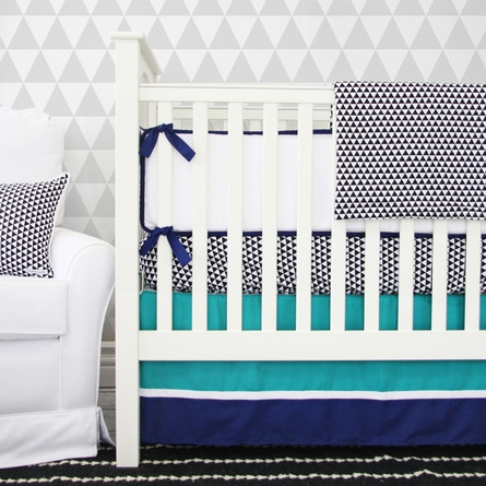 Deco Navy Crib Bumper