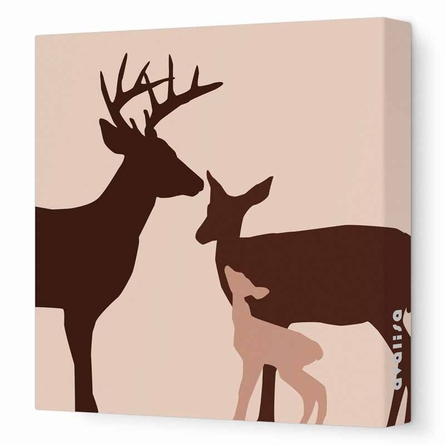 Deer Canvas Wall Art II