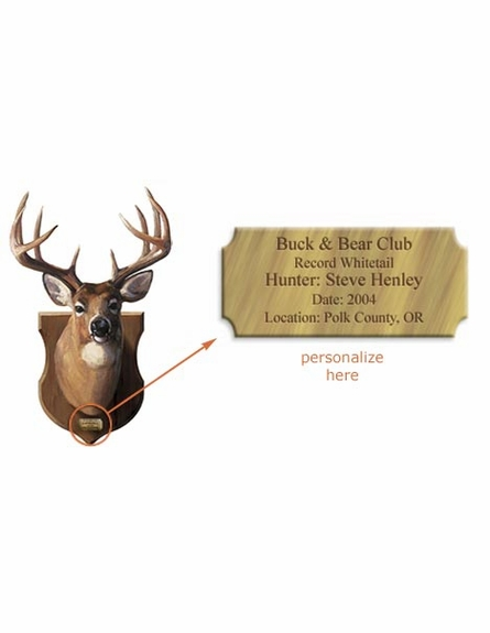 Deer Head Mount Personalized Peel and Stick Wall Mural