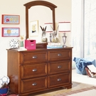 Deer Run Six Drawer Double Dresser