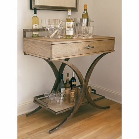 Del Mar Serving Table in Weathered Pier
