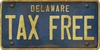 Delaware Custom License Plate Art