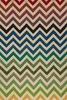 Delhi Light Rainbow Chevron Rug
