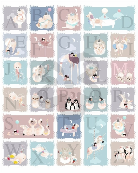 Delicate Creatures Alphabet Canvas Wall Art