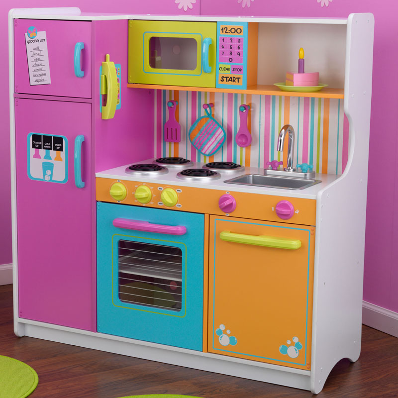 deluxe big bright play kitchen by kidkraft