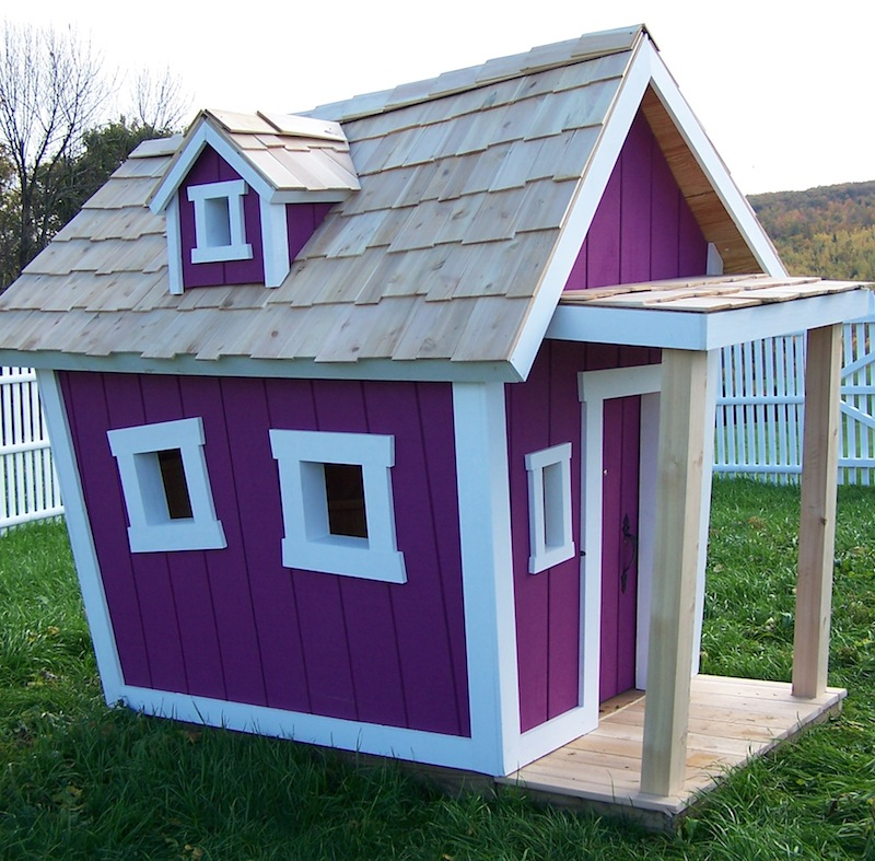 Deluxe Playhouse By Kids Crooked House Rosenberryrooms Com