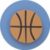 Denim Blue Basketball Drawer Knob