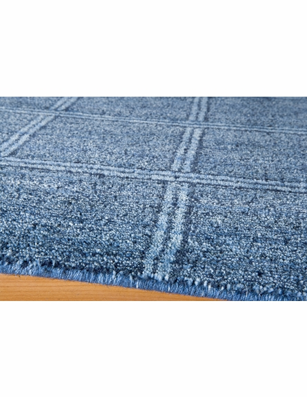 Denim Blue Checkered Rug