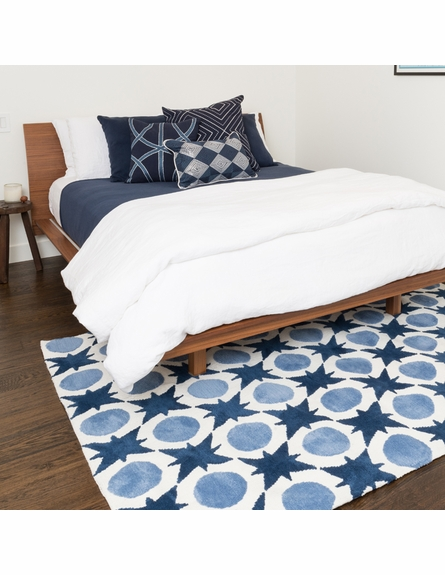 Denim Blue Dot Piper Rug