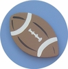 Denim Blue Football Drawer Knob