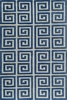 Denim Blue Greek Key Bliss Rug
