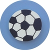 Denim Blue Soccer Ball Drawer Knob