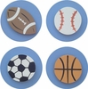 Denim Blue Sports Drawer Knobs - Set of 4