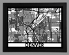 Denver Framed City Map