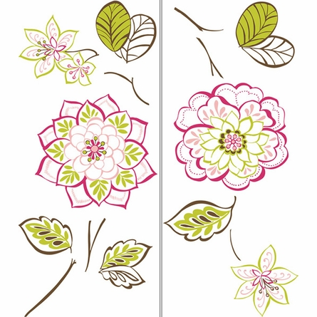 Des Fleurs Large Peel & Stick Wall Decals