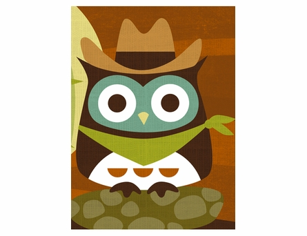 Desert Owl Canvas Reproduction