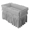 Design-Your-Own Custom Crib Bedding - Ruffled Bumper & Gathered Skirt