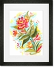 Detailed Flower Framed Art Print