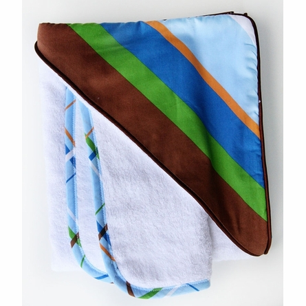 Diagonal Stripe Hooded Towel Set