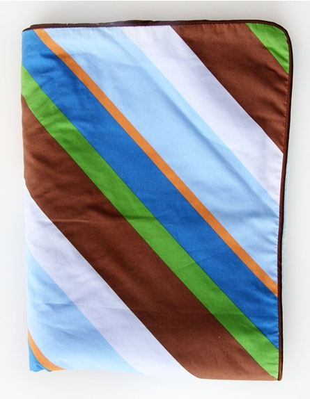 Diagonal Stripe Piped Blanket - Boutique Collection