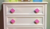 Diamond Fuschia Drawer Pull