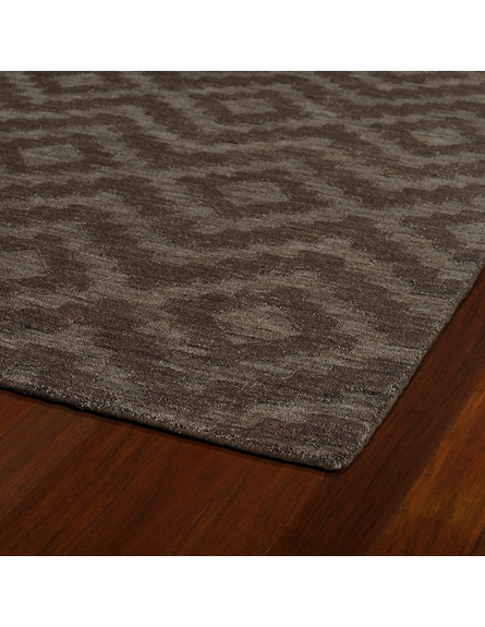 Diamond Imprints Modern Rug in Chocolate