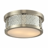Diamond Plate Flush Mount In Brushed Nickel