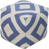 Diamond Pouf in Blue