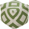 Diamond Pouf in Green