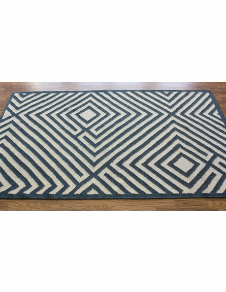 Diamond Rug in Denim Blue