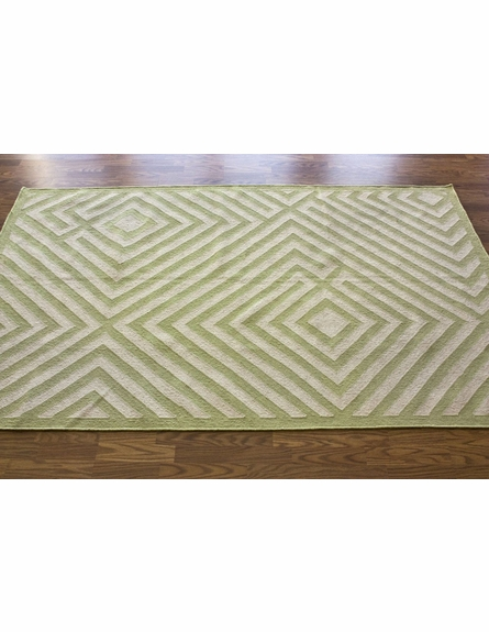 Diamond Rug in Green