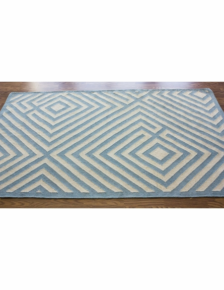 Diamond Rug in Light Blue