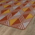 Diamonds and Stripes Nomad Rug in Paprika