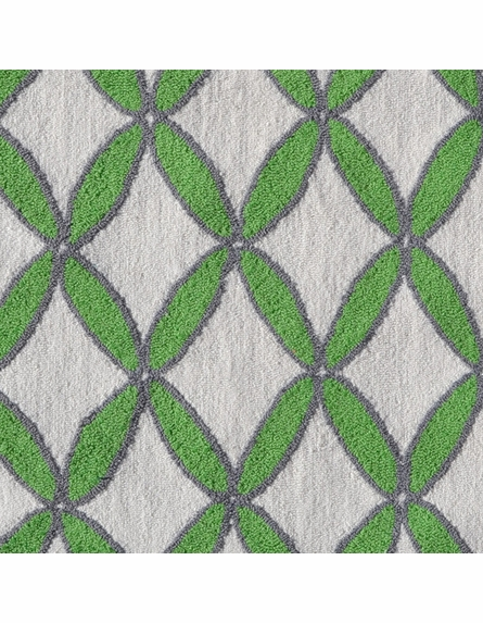 Diamonds Green Rug