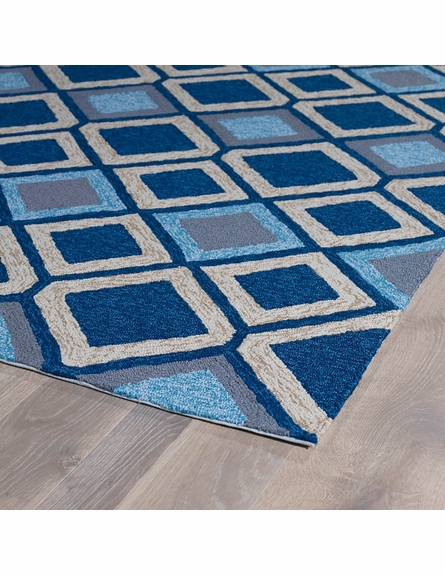 Diamonds Indoor/Outdoor Rug in Blue
