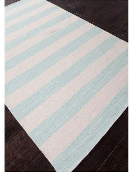 Dias Striped Rug in Aqua Sky