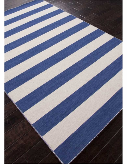 Dias Striped Rug in Deep Navy