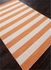 Dias Striped Rug in Vermillion Orange