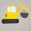 Digger Canvas Wall Art