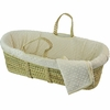 Dimple Velour Moses Basket Set in Natural
