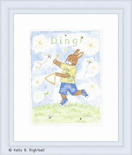 Ding Framed Lithograph