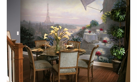 Dinner on the Terrace Wall Mural