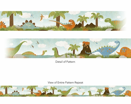 Dino Might Pre-Pasted Wallpaper Border